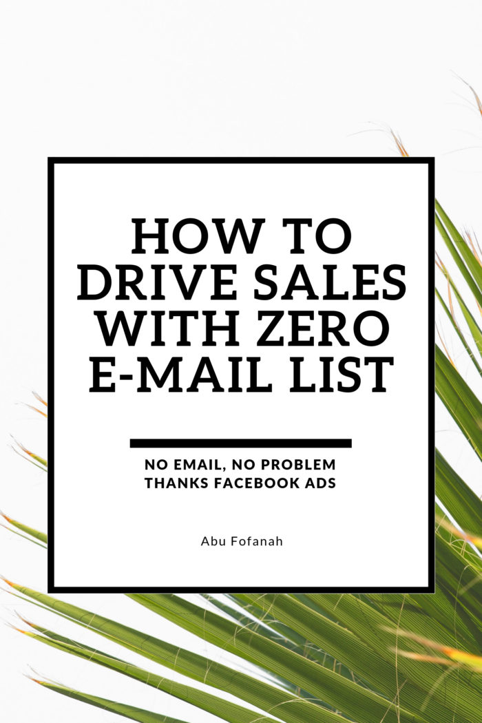 Getting Sales with ZERO E-mail List
